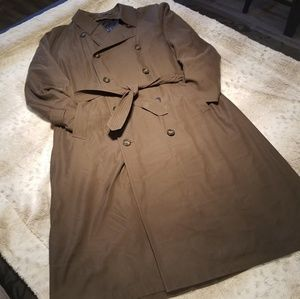 Ralph Lauren Brown Trench Coat w Removable Lining